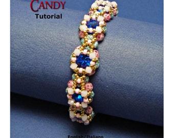 Tutorial Candy Bracelet - beading pattern