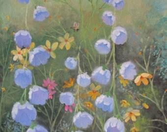 Field Flowers, original oil painting, 16x20