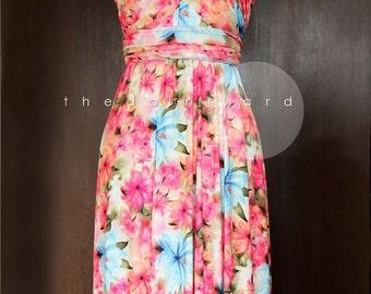 Floral Infinity Dress Convertible Dress Multiway Dress Wrap Dress Summer Dress Transformer Dress Octopus Dress Vibrant Floral Dress