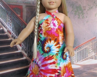Tie DyeMaxi Dress fits American Girl Doll and 18 inch dolls