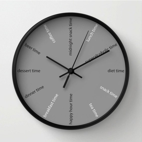 kitchen wall clock fun clock modern wall clock diet clock