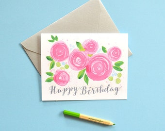 Pretty Birthday Card, Happy Birthday Card, Birthday Card Friend, Birthday Card, Card Birthday
