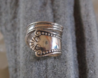 classic Sterling silver spoon ring