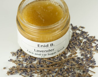 2 oz. Lavender Sugar Face and Lip Scrub