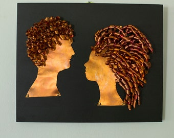 SOLD!!!! Copper Silhouettes Style 2