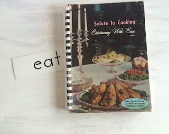 Vintage 1965 Salute to Cooking With Military Wives