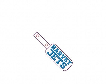 HARVEY Jets - In The Hoop - Snap/Rivet Key Fob - DIGITAL Embroidery DESIGN