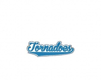 Tornadoes  -  Team Headband Slip On  - DIGITAL Embroidery DESIGN