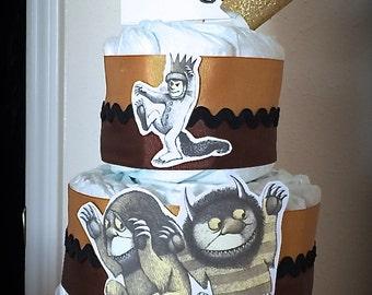 Custom Diaper Cake 3 Tier Where the Wild Things Are