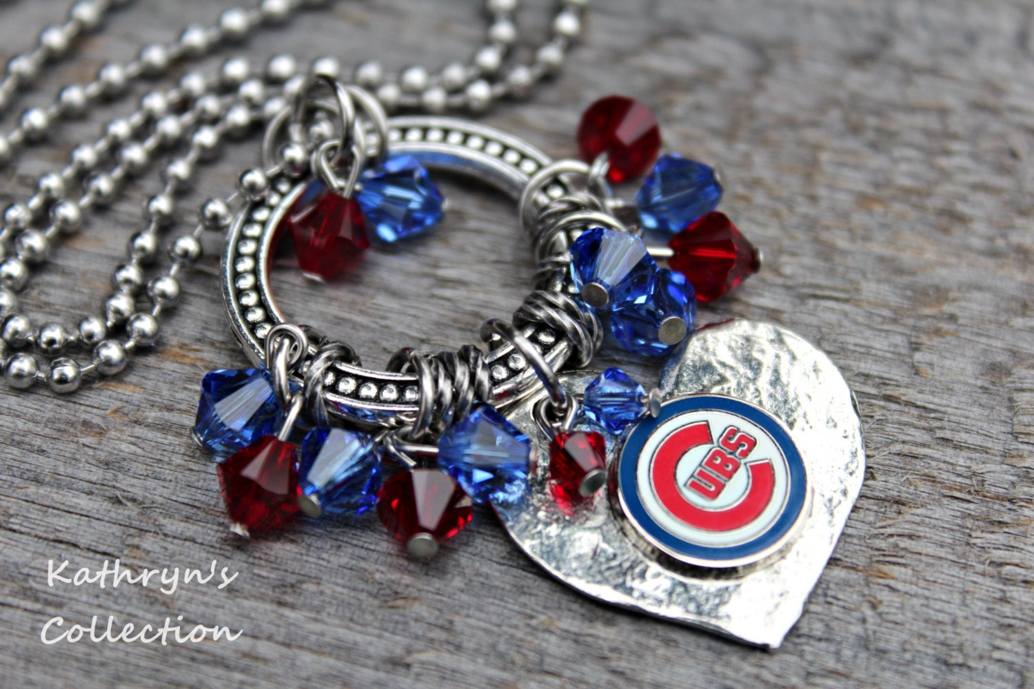 chicago cubs necklace cubs jewelry cubs fan cubs necklace