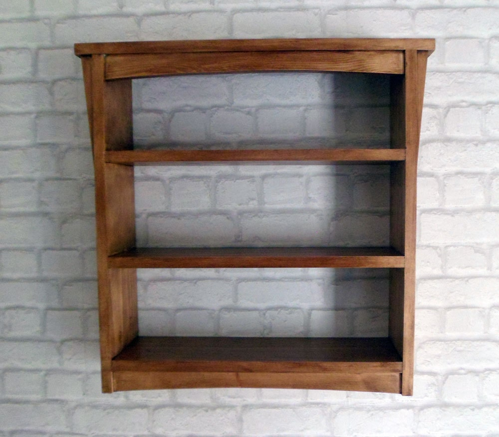 handmade arts and crafts style wooden wall shelf unit. Black Bedroom Furniture Sets. Home Design Ideas