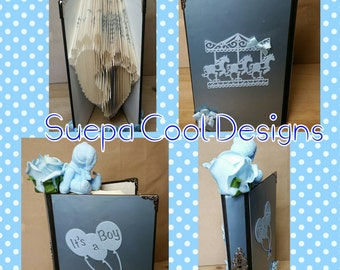 baby feet bookfold great as a gift for a new baby or a special christening gift