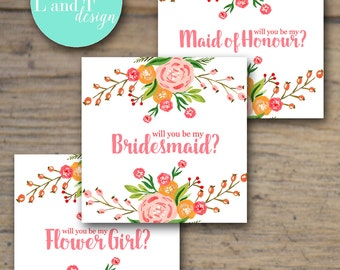 Bridal Party Cards
