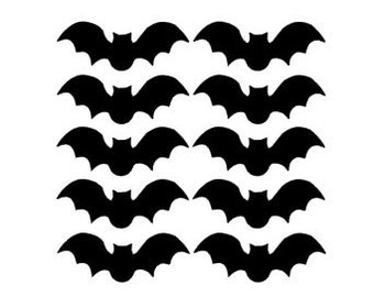 bats vinyl stickers halloween bat decals halloween decorations fall decor halloween decals - Halloween Bat Decorations