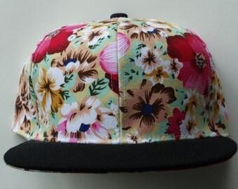 Snapback Floral Hat