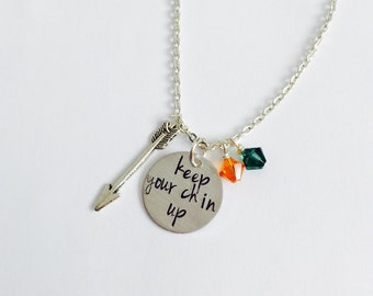 Robin Hood Inspired Necklace. Keep Your Chin Up