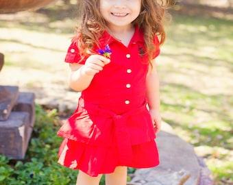 Red hair bow, red hair clip, fancy hair clip, Toddler bow hair clips, decorative hair clip