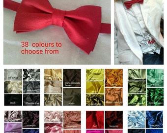 baby Infant toddler boy silk bowtie christening wedding or special occasion bow tie 38 colours
