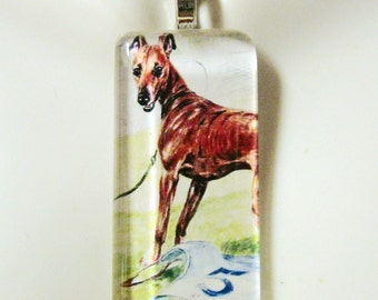 After the race greyhound pendant and chain - DGP02-288