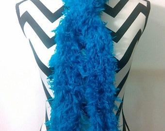 Blue scarf- Boa type-