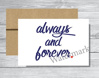 Always and Forever Card - DIGITAL download