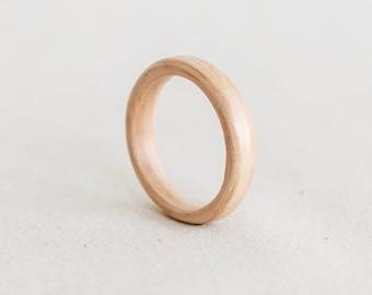 Thin Natural Wood Ring - Tasman Oak