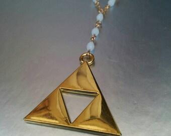 Legend of Zelda Golden Triforce Necklace.