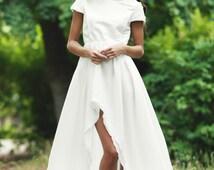 Wedding dress/ White mulet wedding dress/ White long dress