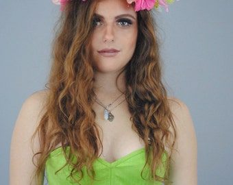 Large Colorful Flower Crown