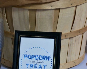 Popcorn Bar Sign, weddings, engagement party, baby shower