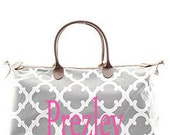 Monogram weekender bag/Bridesmaids monogram Gifts/Personalized Granduation CHAMP Large weekeneder/Shopping Bag/Tote Bag/handbag