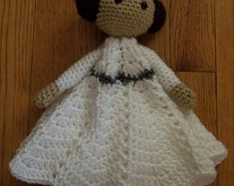Princess Leia  Inspired Lovey Blanket