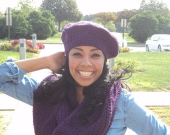 Crocheted Beret (assorted colors)