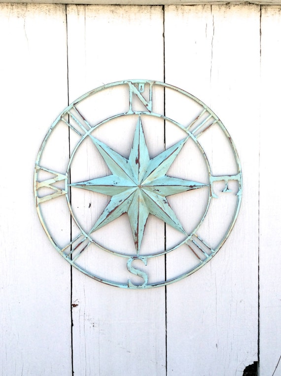 Nautical Compass Wall Decor : Nautical compass wall art decor by