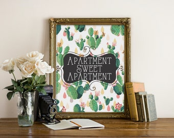 """Apartment Print, wall art quote, Trendy Print, poster quote, Dorm Decor, quote print, quote art, Wall Art, Typography, Quote, """"Print"""""""