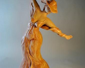 Figurative Ceramic Sculpture Art. One of a kind. SOUL OF A WOMAN Female Figure