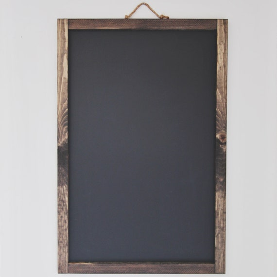 Large Rustic Chalkboard Frame 24x36 By Mxowoodworking On Etsy