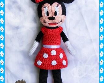Crochet Minnie mouse doll pattern