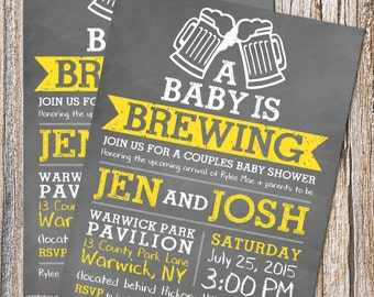 A Baby is Brewing Baby Shower Invite  - Digital file/Printable