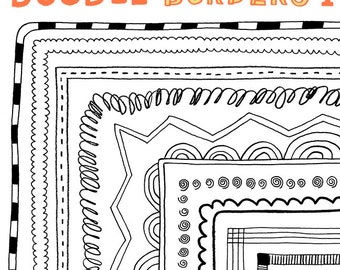 Doodle Borders 1: Hand-Drawn Borders for Personal and Commercial Use