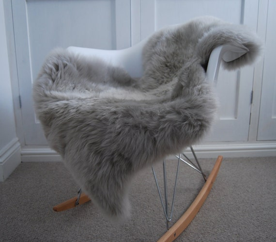 Silver Grey Gray Sheepskin Rug Luxurious By Swedishdalahorse
