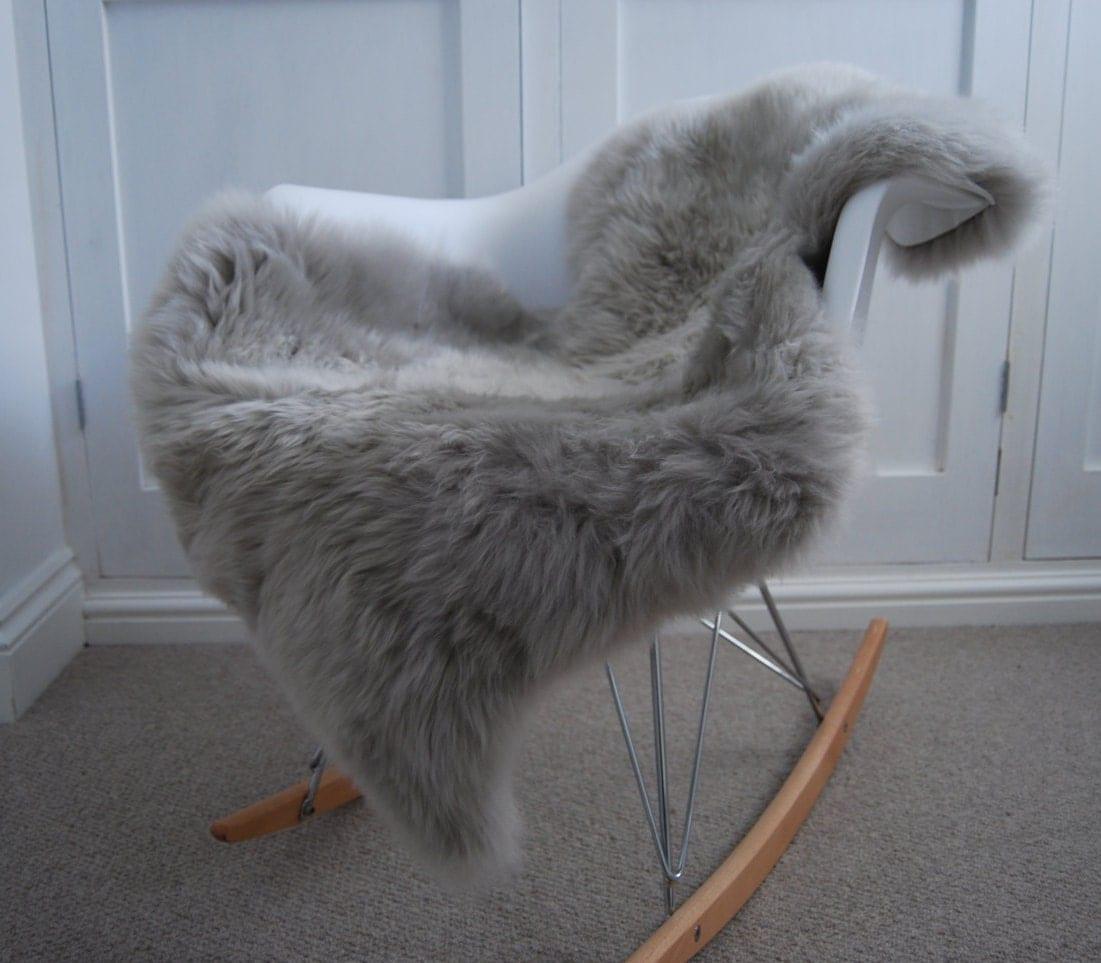 Silver Grey Gray Sheepskin Rug Luxurious By Swedishdalahorse