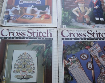Cross Stitch & Country Crafts Magazines - Your Choice - Vintage 1988