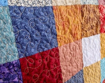 Simple Squares Twin or Lap Quilt