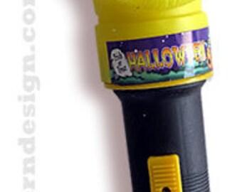 Vintage Groovy Ghoul 70s Halloween Flashlight