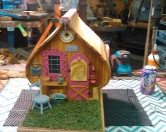 Hand made Cedar Fairy Cottage