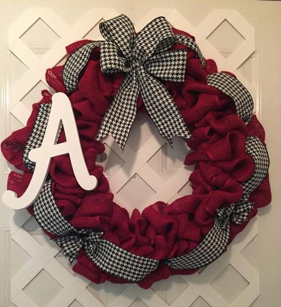 Alabama Roll Tide Wreath - Alabama Wreath - Roll Tide Wreath - Collegiate SEC Wreath - Saban Decor - UA Decor - Roll Tide - Big Al Decor -