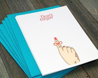 Don't Forget! - Set of 6 letterpress notecards