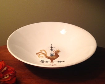 Edwin Knowles Weather Vane rooster china serving bowl