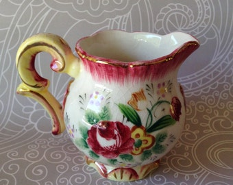 Hand painted small creamer pitcher made in Japan